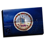 Picture it on Canvas Virginia Distressed Colorful National Patriotic Flag Wall Art on Wrapped Canvas