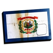 Picture it on Canvas West Virginia Distressed Colorful National Patriotic Flag Wall Art on Canvas
