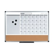 "MasterVision 3-in-1 Calendar Planner Board 24 x 18"", Aluminum Frame (MB3507186)"