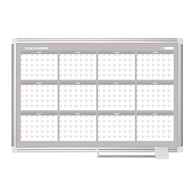 MasterVision Magnetic 12 Month Planner Traditional Format, 48