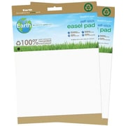 MasterVision Earth 100% Recycled Self-Stick Easel Pad, 30 Sheets/Pad, 2 Pads/Pack, White (FL1218207)