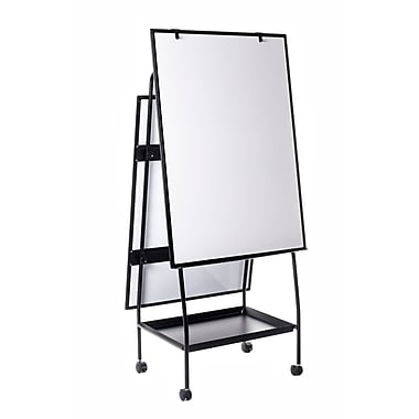 MasterVision Creation Station Magnetic Mobile Presentation Easel, 41.7 x 29.5
