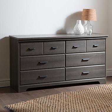 South Shore Versa 6-Drawer Double Dresser, Gray Maple, 59.25