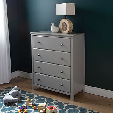 South Shore Cotton Candy 4-Drawer Chest, Soft Gray, 31.5