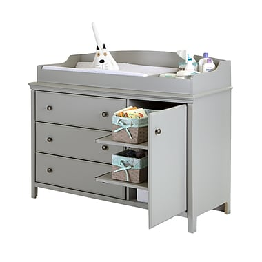 South Shore Cotton Candy Changing Table with Removable Top, Soft Gray, 48 (L) x 20 (D) x 38 (H)