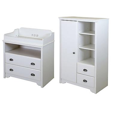 """Table à langer et armoire de rangement, Blanc, Fundy Tide de Meubles South Shore, 52""""L x 34""""D x 17""""H"""