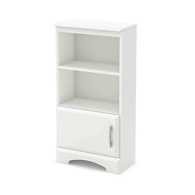 "Table de chevet bibliothèque, Blanc, collection Callesto de Meubles South Shore, 19""L x 10""D x 36""H"