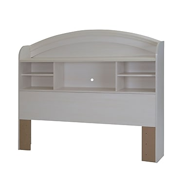 South Shore Country Poetry Full Bookcase Headboard (54''), White Wash