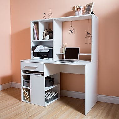 South Shore Annexe Home Office Computer Desk, Pure White, 47.75