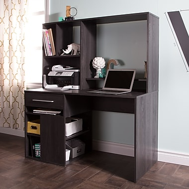 South Shore Annexe Home Office Computer Desk, Gray Oak, 47.75