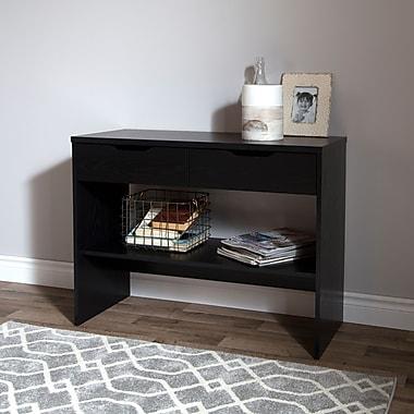 """Table console 2 tiroirs, Chêne noir, collection Flexible de Meubles South Shore, 38""""L x 16""""D x 30""""H"""