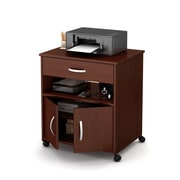 "South Shore Axess Printer Cart on Wheels, Royal Cherry, 26"" (L) x 19.75"" (D) x 27.25"" (H)"