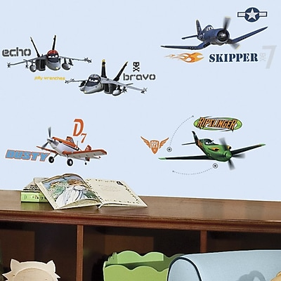 Room Mates Popular Characters 43 Piece Planes Wall Decal WYF078276213889