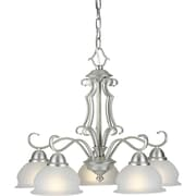 Forte Lighting 5 Light Chandelier with Linen Glass Shades