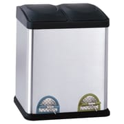 OIA Recycling Bins 7.93 Gallon Step-On Stainless Steel Trash Can