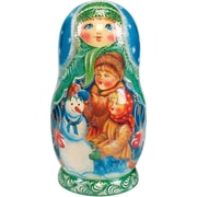 G Debrekht Russian 5 Piece Build Snowman Nested Doll Set