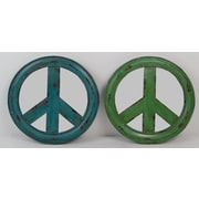 Firefly Home Collection Peace Mirror (Set of 2)