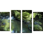 FramedCanvasArt 'Nuuanu Stream 2' by Cameron Brooks 4 Piece Photographic Print on Wrapped Canvas Set