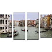 FramedCanvasArt 'Venice Canal' by Chris Bliss 4 Piece Photographic Print on Wrapped Canvas Set