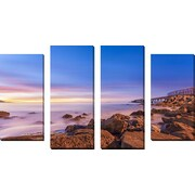 FramedCanvasArt 'Low Shoals View' by Chris Moyer 4 Piece Photographic Print on Wrapped Canvas Set