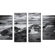 FramedCanvasArt 'Bacara Dark' by Chris Moyer 4 Piece Photographic Print on Wrapped Canvas Set