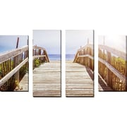 FramedCanvasArt 'Dune Path 1' by Elena Elisseeva 4 Piece Photographic Print on Wrapped Canvas Set