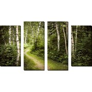FramedCanvasArt 'Forest' by Elena Elisseeva 4 Piece Photographic Print on Wrapped Canvas Set