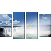 FramedCanvasArt 'Niagara Falls' by Elena Elisseeva 4 Piece Photographic Print on Wrapped Canvas Set