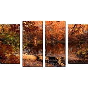 FramedCanvasArt 'End Of Path' by Lourry Legarde 4 Piece Photographic Print on Wrapped Canvas Set