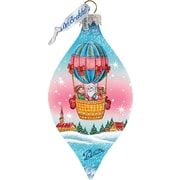 G Debrekht Holiday Air Balloon Glass Ornament