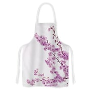 KESS InHouse Cherry Sakura by Monika Strigel Floral Artistic Apron