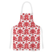 KESS InHouse Ornate Trees White by Miranda Mol Holiday Artistic Apron
