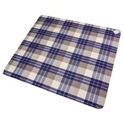 Creswick Billabong Waterproof Outdoor Picnic Blanket w/ Rubber Back; Navy Check