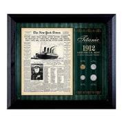 American Coin Treasure New York Times Titanic 1912 U.S. Mint Coin Wall Framed Memorabilia - 4 Coins