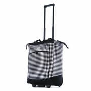 Olympia Fashion Houndstooth Rolling Shopping Tote