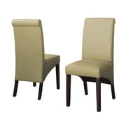 Modus Cosmo Leather Parson Chair (Set of 2); Kiwi