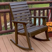 Highwood USA Weatherly Rocking Chair; Weathered Acorn