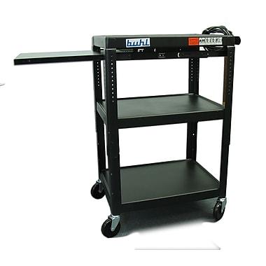 Buhl Height Adjustable AV Cart w/ 3 Stationary Shelves