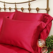 Scent-Sation Charmeuse II Satin Standard Pillow Case (Set of 2); Red