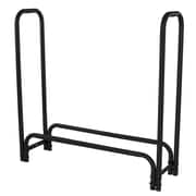Pleasant Hearth Steel Firewood Log Rack; Black Powder Coat