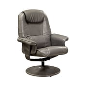 Hokku Designs Klaus Wingback Chair & Ottoman; Gray