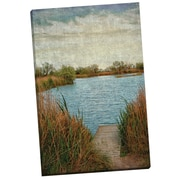 Portfolio Canvas Linen Lake by Marcus Phillip Painting Print on Wrapped Canvas