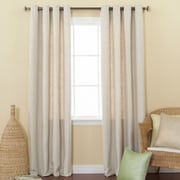 Best Home Fashion, Inc. Solid Heavyweight Textured Faux Linen Curtain Panels (Set of 2); Cream