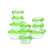 Glasslock Glasslock 20 Piece Green Lid Storage Container Set