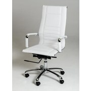 VIG Furniture Modrest Harrison Modern High-Back Leather Executive Chair; White