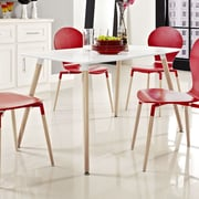 Modway Field Dining Table; White