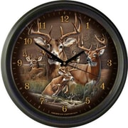 AmericanExpedition Whitetail Deer Collage 16'' Wall Clock