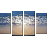 FramedCanvasArt 'Circular Sunrise' by DesignPics 4 Piece Photographic Print on Wrapped Canvas Set