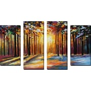 'Sun Of January' by Leonid Afremov 4 Piece Painting Print on Wrapped Canvas Set