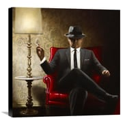 Global Gallery Black Tie by John Silver Painting Print on Canvas; 24'' H x 24'' W x 1.5'' D